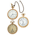 Timepieces:Pocket (post 1900), Three Open Face Pocket Watches For Parts Or Repair. ... (Total: 3Items)