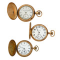 Timepieces:Pocket (post 1900), A Lot Of Three Hunter's Case Pocket Watches For Parts Or Repair. ... (Total: 3 Items)