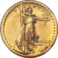 High Relief Double Eagles, 1907 $20 High Relief, Flat Rim MS67+ NGC....