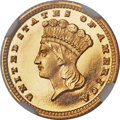 Proof Gold Dollars, 1882 G$1 PR67 ★ Ultra Cameo NGC. CAC....