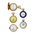 Timepieces:Pocket (post 1900), Lot of Five Watches. ... (Total: 5 Items)