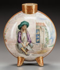 Ceramics & Porcelain, British:Antique  (Pre 1900), A ROYAL DOULTON FAIENCE FOOTED MOON FLASK FOR TIFFANY & CO., Lambeth, England, circa 1875. Marks: TIFFANY & CO., NEW YORK...