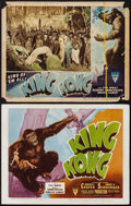 "Movie Posters:Horror, King Kong (RKO, R-1946). Title Lobby Card & Lobby Card (11"" X14""). Horror.. ... (Total: 2 Items)"