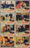 "Movie Posters:Action, Sea Devils (RKO, 1937). Lobby Card Set of 8 (11"" X 14""). Action..... (Total: 8 Items)"