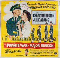 "The Private War of Major Benson & Others Lot (Universal International, 1955). Six Sheet (75"" X 74"") and On..."