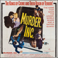 "Movie Posters:Crime, Murder, Inc. (20th Century Fox, 1960). Six Sheet (77"" X 80"").Crime.. ..."