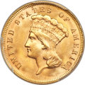 Three Dollar Gold Pieces, 1878 $3 MS66+ PCGS. CAC....