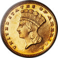 Proof Gold Dollars, 1887 G$1 PR64 Cameo PCGS....