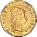 Early Quarter Eagles, 1798 $2 1/2 Close Date, Four Berries, BD-1, High R.5 -- MountRemoved, Cleaned -- NGC Details. AU....