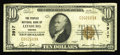 National Bank Notes:Virginia, Leesburg, VA - $10 1929 Ty. 1 The Peoples NB Ch. # 3917. A scarcesmall size note from then rural and now rapidly growin...