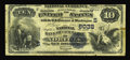 National Bank Notes:Virginia, Norfolk, WV - $10 1882 Value Back Fr. 577 The NB of Commerce Ch. #(S)6032. Three large margins are combined with a top ...