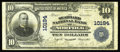 National Bank Notes:Virginia, Norfolk, VA - $10 1902 Plain Back Fr. 628 The Seaboard NB Ch. #10194. Besides a tight upper margin, there is no distra...