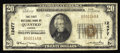 National Bank Notes:Virginia, Quantico, VA - $20 1929 Ty. 1 The First NB Ch. # 12477. Despitereceiving its charter in December of 1923, this bank ele...