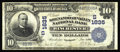 National Bank Notes:Virginia, Winchester, VA - $10 1902 Date Back Fr. 617 The Shenandoah ValleyNB Ch. # (S)1635. With this addition the census now st...