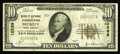 National Bank Notes:West Virginia, Beckley, WV - $10 1929 Ty. 1 The Beckley National Exchange Bank Ch.# 10589. A note bearing the second of two titles und...