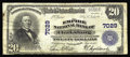 National Bank Notes:West Virginia, Clarksburg, WV - $20 1902 Plain Back Fr. 650 The Empire NB Ch. #7029. Engraved signatures are seen on this note, a pra...