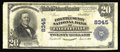 National Bank Notes:West Virginia, Fayetteville, WV - $20 1902 Plain Back Fr. 652 The Fayette County NB Ch. # 8345. This addition to the census is the fif...