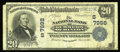 National Bank Notes:West Virginia, Hinton, WV - $20 1902 Plain Back Fr. 651 The NB of Summers Ch. #(S)7998. This note becomes the lowest serial number kno...