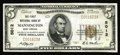 National Bank Notes:West Virginia, Mannington, WV - $5 1929 Ty. 1 The First NB Ch. # 5012. A brightand well centered Very Fine-Extremely Fine note th...