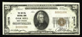 National Bank Notes:West Virginia, Oak Hill, WV - $20 1929 Ty. 1 The Oak Hill NB Ch. # 12075. Thisaddition to the census is only the third 1929 $20 to sur...