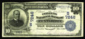 National Bank Notes:West Virginia, Pennsboro, WV - $10 1902 Date Back Fr. 616 The Citizens NB Ch. # (S)7246. This wholly original note was obviously hand ...