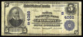 National Bank Notes:West Virginia, Piedmont, WV - $5 1902 Plain Back Fr. 600 The Davis NB Ch. #(S)4088. This is a new note for the census that currently s...