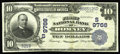 National Bank Notes:West Virginia, Romney, WV - $10 1902 Plain Back Fr. 627 The First NB Ch. #(S)9766. A tougher note in large size, particularly in nice...