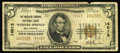 National Bank Notes:West Virginia, Webster Springs, WV - $5 1929 Ty. 2 The Webster Springs NB Ch. # 14013. This is an extremely rare 14000 charter example....