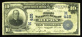 National Bank Notes:Wisconsin, Ripon, WI - $10 1902 Plain Back Fr. 624 The First NB Ch. # (M)425. Ripon is generally recognized as the locale where th...