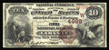 National Bank Notes:Wyoming, Laramie, WY - $10 1882 Brown Back Fr. 487 The First NB Ch. # (W)4989. A terrific Brown Back with a wonderful pedigree, f...