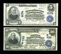 National Bank Notes, A Large Size Pair from Both Coasts. New York, NY - $10 1902 Date Back Fr. 616 National Bank of Commerce VF-EF. San Francisco... (Total: 2 notes)