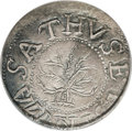 1652 SHILNG Oak Tree Shilling AU50 PCGS. N-5, Cr-2-D. A highly desirable example of this coveted issue which boasts a st...