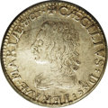 Undated SHILNG (1658-1659) Lord Baltimore Shilling XF40 PCGS. Breen-64. Hodder 1-A. A partly lustrous light silver-gray...