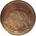 Colonials: , (1694) TOKEN London Elephant Token, Thick Planchet AU50 PCGS. Breen-186, variety without diagonals in the center of the shi...