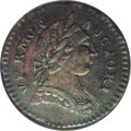 Colonials: , 1787 COPPER Vermont Copper, BRITANNIA AU53 NGC. RR-13, Bressett17-V, R.1. A richly detailed example of the popular Vermont...