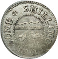 Colonials: , 1783 SHLNG Chalmers Shilling, Long Worm XF45 PCGS. Breen-1012.Crosby, Pl. IX 6 and figure 69....