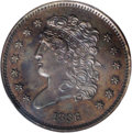Proof Classic Head Half Cents: , 1836 1/2 C PR62 Brown NGC. B-1 Original, Large Berries, Low R.6.Having filled its vaults with coins from previous years, t...