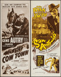 """Movie Posters:Western, San Antonio & Other Lot (Dominant Pictures, R-1956). Inserts (2) (14"""" X 36""""). Western.. ... (Total: 2 Items)"""