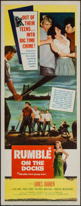 "Movie Posters:Exploitation, Rumble on the Docks (Columbia, 1956). Insert (14"" X 36"").Exploitation.. ..."
