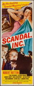 "Movie Posters:Crime, Scandal, Inc. (Republic, 1956). Insert (14"" X 36""). Crime.. ..."