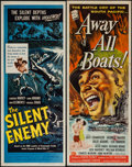 "Movie Posters:War, Away All Boats & Other Lot (Universal International, 1956).Inserts (2) (14"" X 36""). War.. ... (Total: 2 Items)"