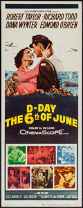 """Movie Posters:War, D-Day The Sixth of June (20th Century Fox, 1956). Insert (14"""" X36""""). War.. ..."""