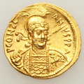 Ancients:Byzantine, Ancients: Constantine IV (AD 668-685). AV solidus (4.48 gm)....