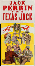 "Movie Posters:Western, Texas Jack (Screencraft, R-1930s). Three Sheet (40"" X 78""). Western.. ..."
