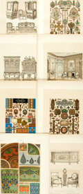 Books:Prints & Leaves, Group of Eight Original Color Prints from Owen Jones' 1910 Editionof The Grammar of Ornament. ...