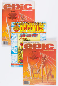 Amazing World of DC Comics #9 and Epic Illustrated #3 Group (Marvel, 1975-80) Condition: Average NM.... (Total: 4 Comic...