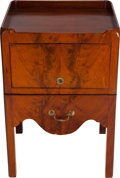 Furniture , A GEORGE III-STYLE MAHOGANY NIGHT STAND, circa 1920. 30 x 20 x 18 inches (76.2 x 50.8 x 45.7 cm). ...