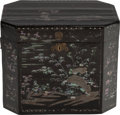 Asian:Chinese, A CHINESE BLACK LACQUER AND MOTHER-OF-PEARL BOX. 15-3/4 x 19-1/2 x14 inches (40.0 x 49.5 x 35.6 cm). ... (Total: 2 Items)
