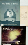 Books:Pamphlets & Tracts, [Space/Aeronautics]. Group of Three Pamphlets on Space andAeronautics. ...