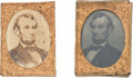 Political:Ferrotypes / Photo Badges (pre-1896), Abraham Lincoln: Gem Badges. ... (Total: 2 Items)